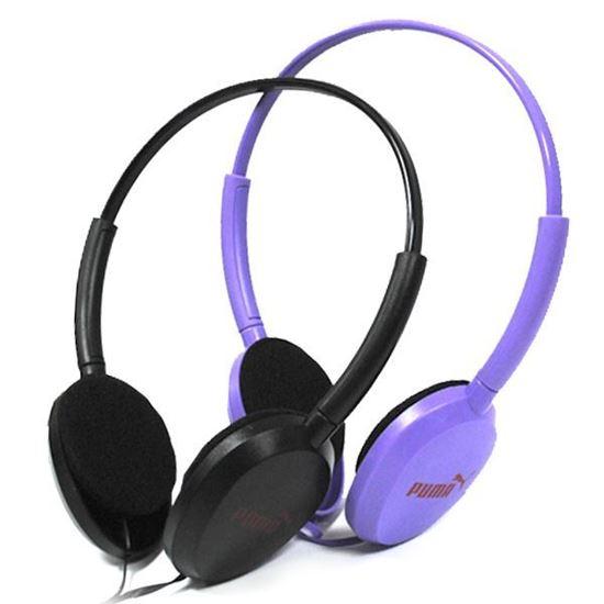 Изображение Гарнитура накладная PUMA MS-169 (MP3, iPod, iPhone, Samsung) в блистере чёрная