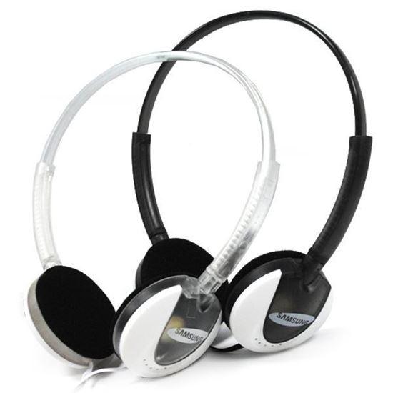 Изображение Гарнитура накладная Samsung MS-167 (MP3, iPod, iPhone, Samsung) в блистере прозрачная