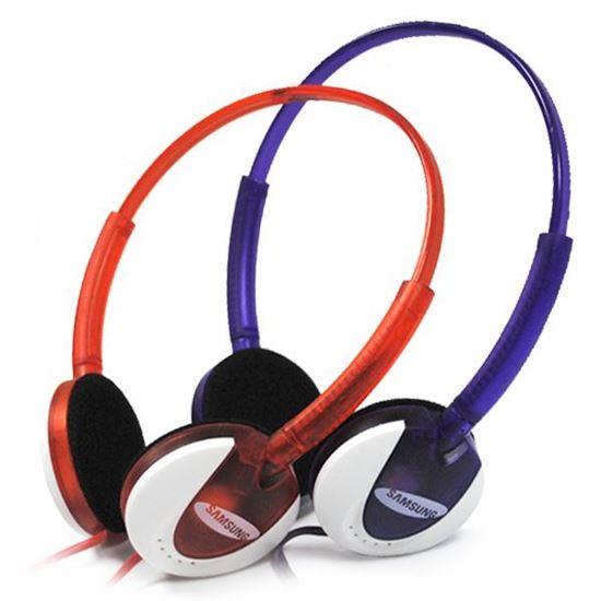 Изображение Гарнитура накладная Samsung MS-167 (MP3, iPod, iPhone, Samsung) в блистере фиолетовая