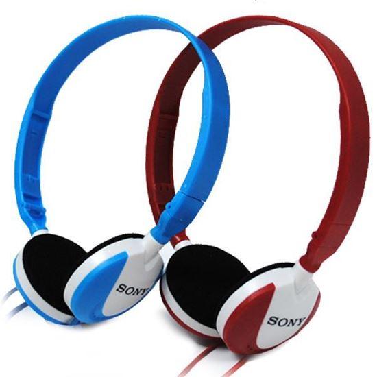 Изображение Гарнитура накладная Sony MS-164 (MP3, iPod, iPhone, Samsung) в блистере голубая