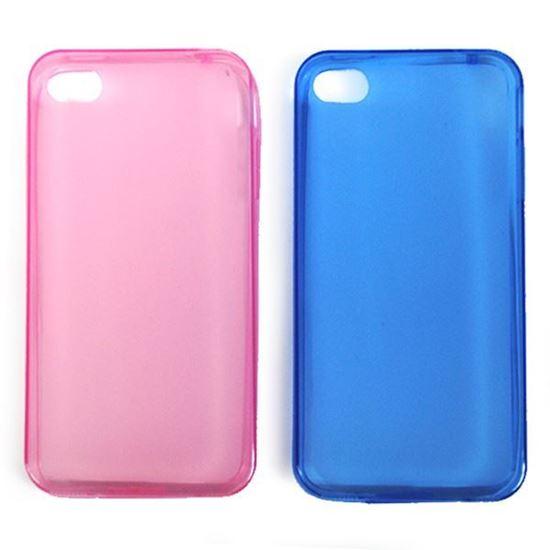 Изображение Задняя панель i-Best для iPhone 4/4S (тонкий силикон) матовая синяя