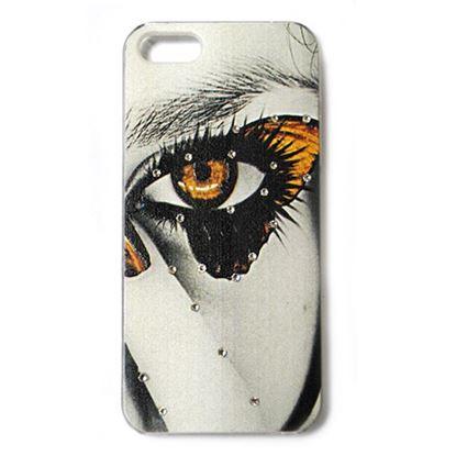 Изображение Задняя панель для iPhone 4/4S пластиковая матовая со стразами Глаз