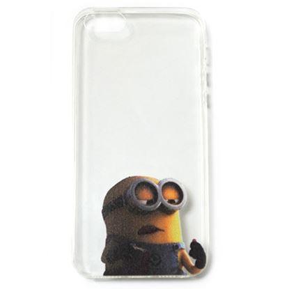 Изображение Задняя панель для iPhone 4/4S силиконовая Миньоны № 2