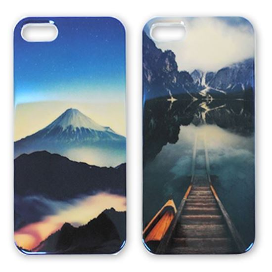Изображение Задняя панель для iPhone 5/5S силикон лаковый Горное озеро