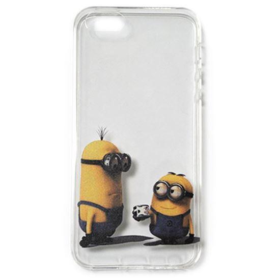 Изображение Задняя панель для iPhone 5/5S силиконовая Миньоны №14