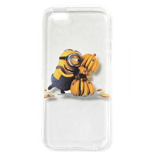 Изображение Задняя панель для iPhone 5/5S силиконовая Миньоны №19