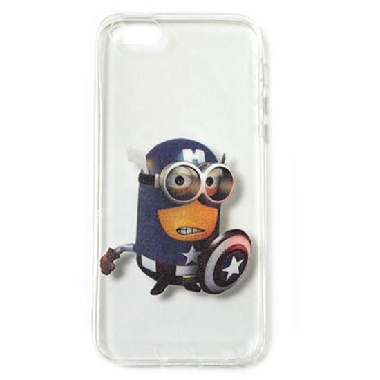 Изображение Задняя панель для iPhone 5/5S силиконовая Миньоны №26