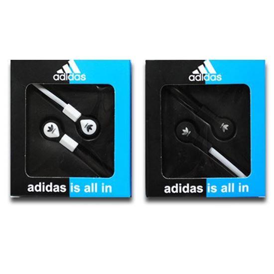 Изображение Наушники вакуумные Adidas AD-8 (MP3, CD, iPod, iPhone, iPad) в коробке чёрные