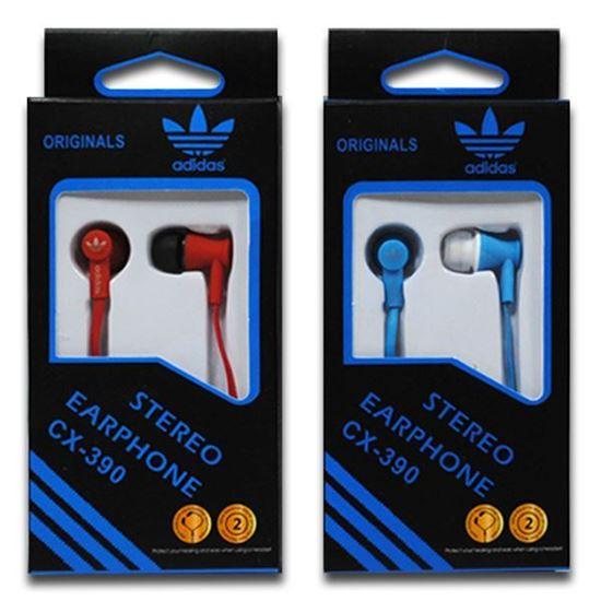 Изображение Наушники вакуумные Adidas CX-390 (MP3, CD, iPod, iPhone, iPad) в коробке голубые