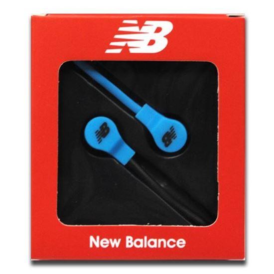 Изображение Наушники вакуумные New Balance NB-11 (MP3, CD, iPod, iPhone, iPad) в коробке голубые