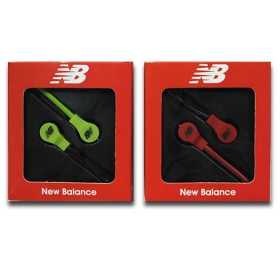Изображение Наушники вакуумные New Balance NB-11 (MP3, CD, iPod, iPhone, iPad) в коробке зелёные