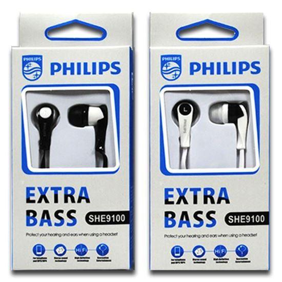 Изображение Наушники вакуумные PHILIPS SHE9100 (MP3, CD, iPod, iPhone, iPad) в коробке чёрные