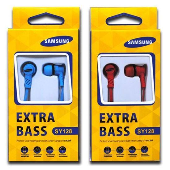 Изображение Наушники вакуумные Samsung SY-128 (MP3, CD, iPod, iPhone, iPad) в коробке голубые
