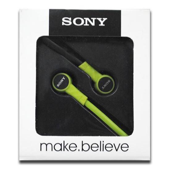 Изображение Наушники вакуумные Sony SN-12 (MP3, CD, iPod, iPhone, iPad) в коробке зелёные