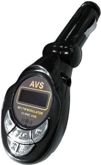 Изображение FM трансмиттер (модулятор)+MP3 плеер с дисплеем и пультом AVS F508S