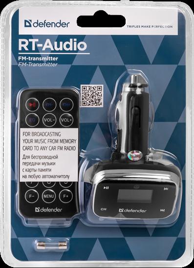 Изображение FM-модулятор Defender RT-Audio  [USB2.0] ч/з FM Radio, ДУ (LCD дисплей), SD/MMC